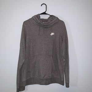 Nike -- Gray Turtleneck Hoodie